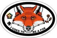 Old Logo Wood Badge Fox Critter Oval Magnet