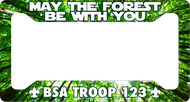 License Plate Frame May The Forest Be With You! SP6817