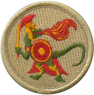 Fire Breathing Spartan Dinosaur Patrol Patch