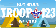 License Plate Boy Scout We Camp SP6835