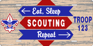 License Plate Boy Scout Eat Sleep Scouting Repeat SP6839