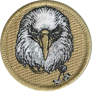 Official Licensed Wood Badge Eagle with Beads Patrol Patch