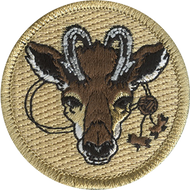 Official Licensed Wood Badge Antelope with Beads Patrol Patch