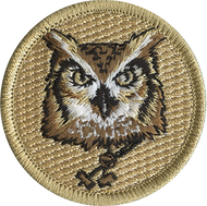 Official Licensed Wood Badge Owl with Beads Patrol Patch