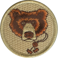 Official Licensed Wood Badge Bear with Beads Patrol Patch
