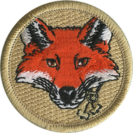 Official Licensed Wood Badge Fox with Beads Patrol Patch
