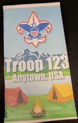 Custom Scouts BSA Neck Gaiter - Lake Camping (SP6860)