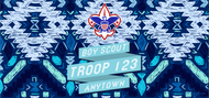 Scouts BSA Troop Boho Pattern Water Bottle SP6926