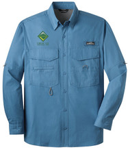 Eddie Bauer® – Long Sleeve Fishing Shirt  with Venturing Logo