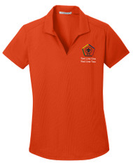 Dry Zone® Grid Ladies Wicking Polo with Wood Badge Logo