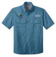 Eddie Bauer® – Short Sleeve Fishing Shirt  with Wood Badge Logo