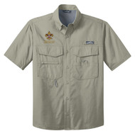 Eddie Bauer® – Short Sleeve Fishing Shirt  with BSA Universal Logo