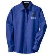 Port Authority® Ladies Long Sleeve Easy Care Shirt with Wood Badge Logo