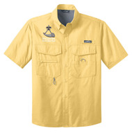 Eddie Bauer® – Short Sleeve Fishing Shirt  with Powder Horn Logo