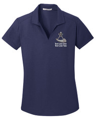 Dry Zone® Grid Ladies Wicking Polo with Powder Horn Logo