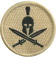 Spartan Helmet & Cross Swords Patrol Patch