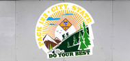 Custom Cub Scout Pack Mountain Hike Trailer Graphic (SP6988)