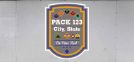 Custom Cub Scout Pack Ranks Plaque Trailer Graphic (SP6990)