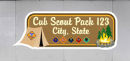 Custom Cub Scout Pack Campout Trailer Graphic (SP6991)