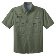 Eddie Bauer® – Short Sleeve Fishing Shirt  with Sea Scout Logo