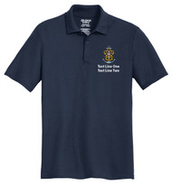 Cotton Pique Polo – Mens with Sea Scout Logo