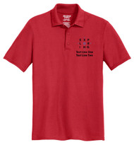 Cotton Pique Polo – Mens with Exploring Logo