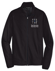 Port Authority® Active Soft Shell Jacket with Exploring Logo