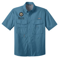 Eddie Bauer® – Short Sleeve Fishing Shirt  with Sea Base Logo
