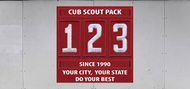 Custom Cub Scout Pack Unit Numeral Trailer Graphic (SP7029)