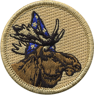 Official Licensed Wizard Moose Patrol Patch