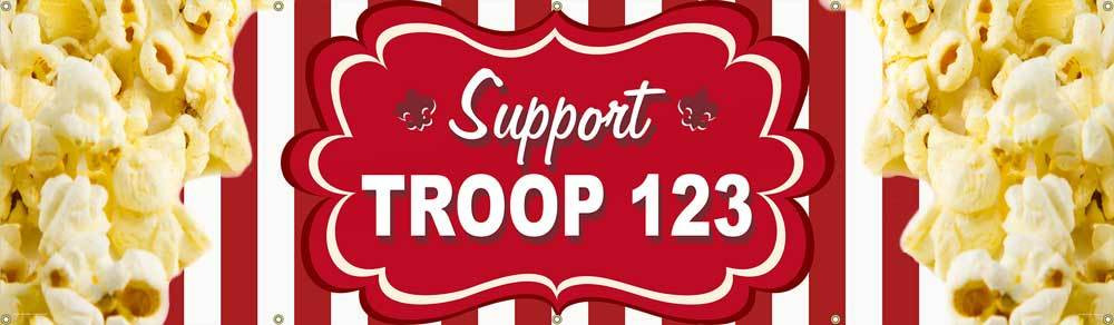 Custom Scouts BSA Troop Banner for Popcorn Sales (SP5273)