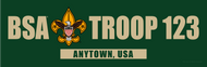 Custom Boy Scout Troop Forest Green Bumper Sticker (SP5290)