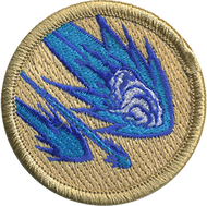 Blue Flamed Mashed Potato Asteroids  Patrol Patch