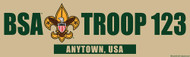 Custom Scouts BSA Troop Khaki Bumper Sticker (SP5289)