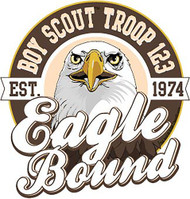 Custom Scouts BSA Troop Eagle Bound Eagle Car Sticker (SP5431)