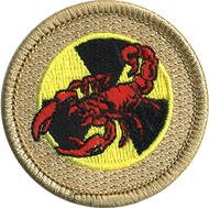 Red Radioactive Scorpion Patrol Patch