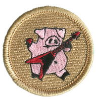 Rock Star Pig Patrol Patch
