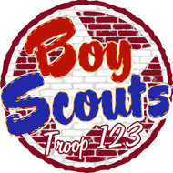 Custom Scouts BSA Troop Brick Wall Car Sticker (SP5433)