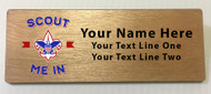 Scout Me In Large Corporate Logo Wooden Name Tag