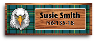 Wood Badge Eagle Tartan Name Tag