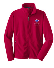 Boy Scouts Red Fleece Jacket with BSA Corporate Logo