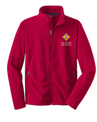 Boy Scouts Red Fleece Jacket with Cub Scout Logo