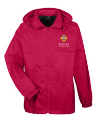 Boy Scouts Red Hooded Jacket with Cub Scout Logo