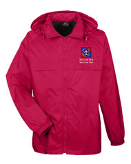 Scouts BSA Red Hooded Jacket with BSA NYLT Logo