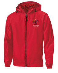 Boy Scouts Red Sport Tek Jacket with BSA Wood Badge Logo