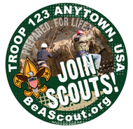 Custom Scouts BSA Troop Join Scouts Car Sticker (SP5243)