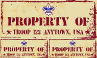 Custom Scouts BSA Troop Property of Troop Car Sticker (SP5240)