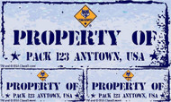 Custom Cub Scout Pack Property of Pack Car Sticker (SP5241)