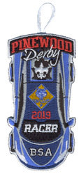 2019 Pinewood Derby Cub Scout Racer Patch