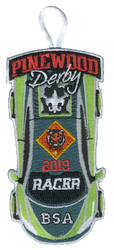 2019 Pinewood Derby Tiger Racer Patch